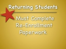 Re-enrollment Forms Due March 27